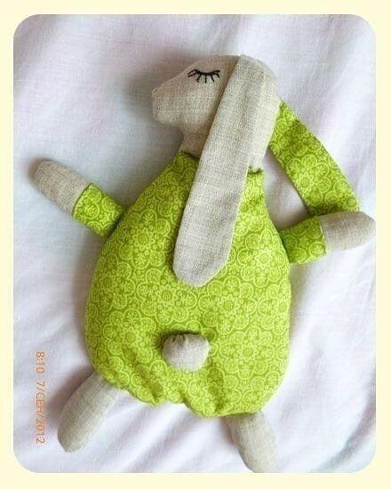 Текстильный зайка