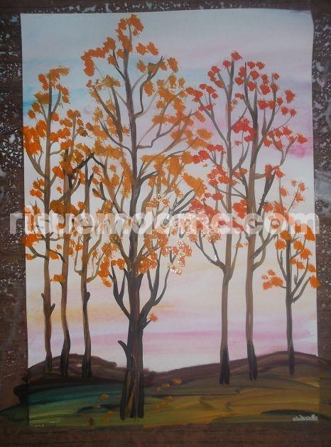 Рисуем с детьми осень
