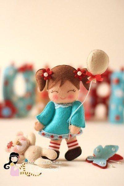 Куколки из фетра