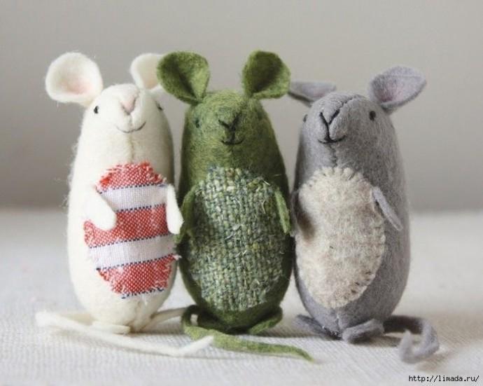 Милые и очень маленькие мышки: мастер-класс