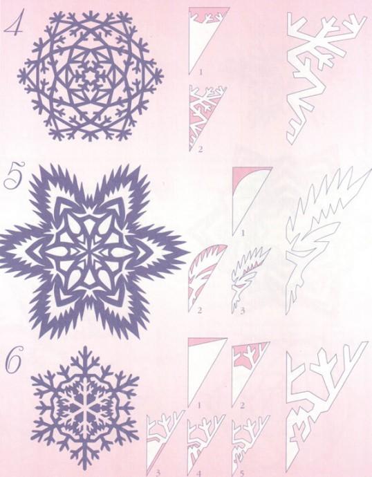 Прocтые схемы красивых снежинок 1