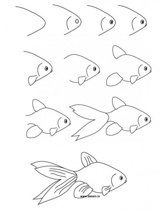 Рисуем с детьми морских обитателей