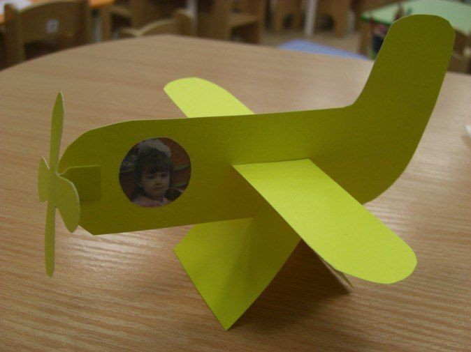 Самолетик из картона 0