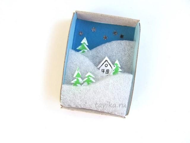 Зима и осень в спичечной коробке