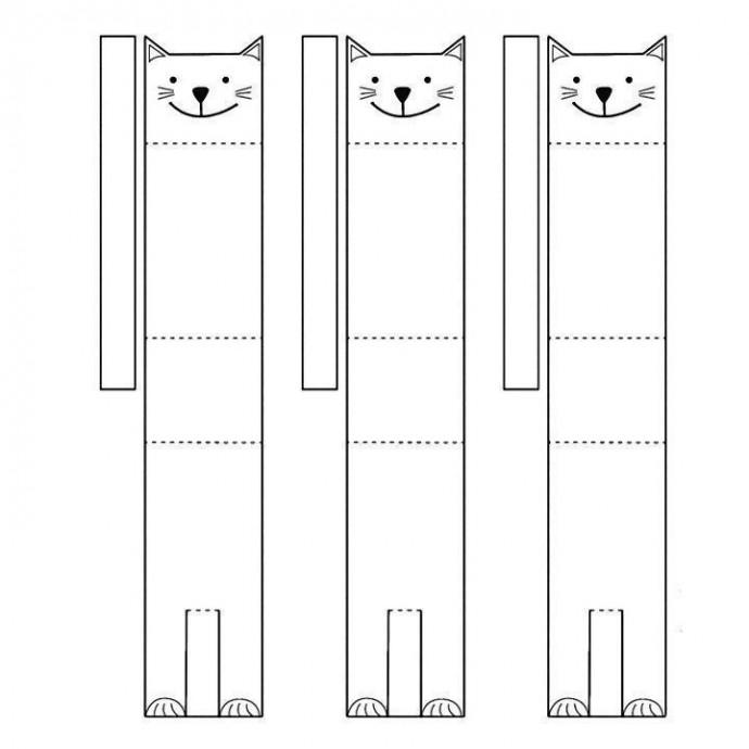 Объемные кошечки из листа бумаги