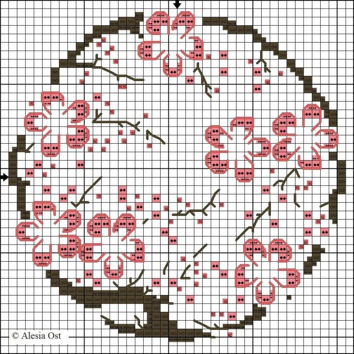 Вышиваем с детьми сакуру