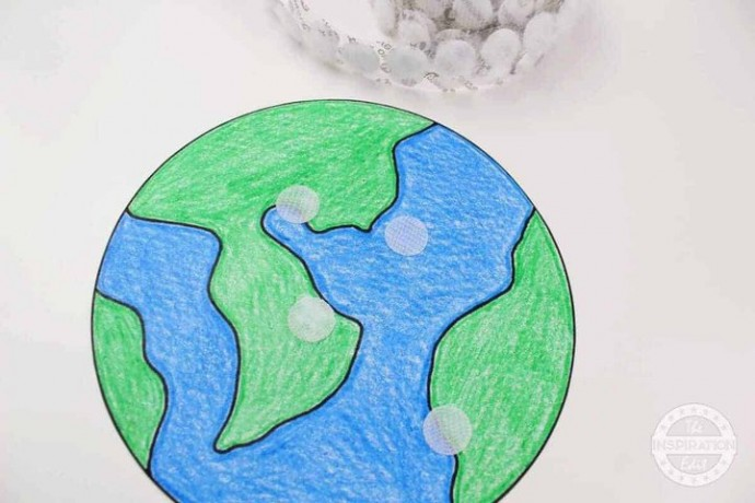 Земля: рисунок-аппликация