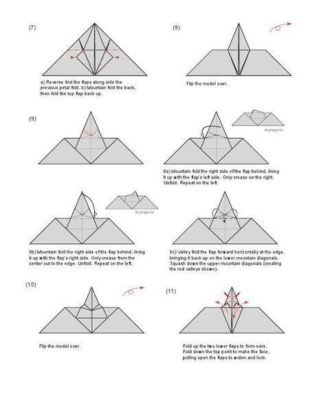 Летучая мышь в технике оригами 2