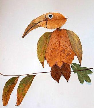 Осенний креатив из листьев