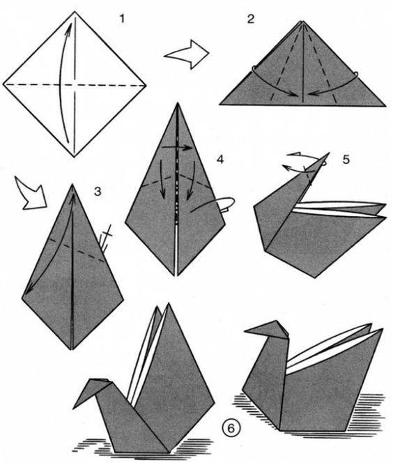 Птички оригами