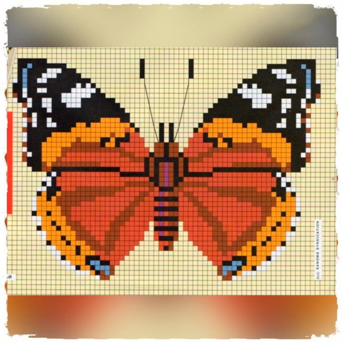 Вышиваем бабочек 0