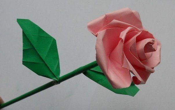 Бумажная роза: мастер-класс