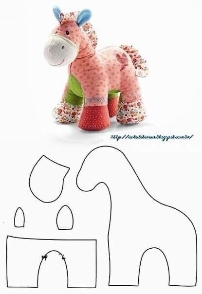 Выкройки мягких игрушек: пони