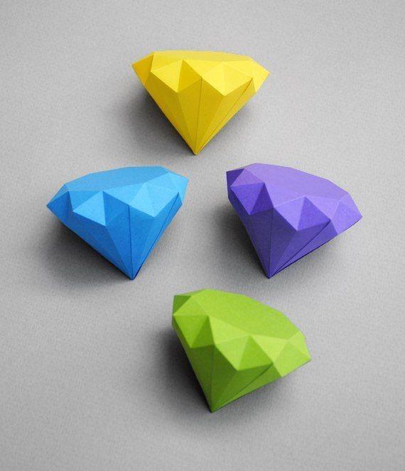Бриллианты из цветной бумаги