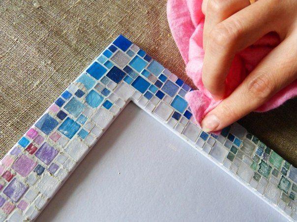 Декор рамочки мозаикой