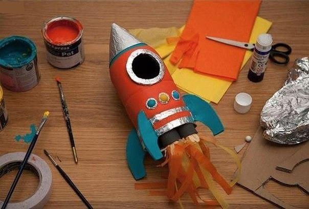 Делаем ракету с детьми