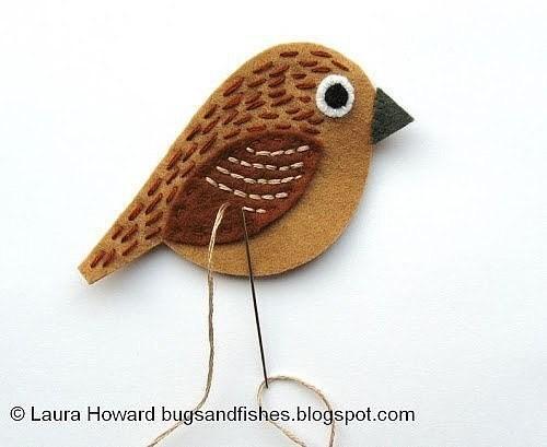 Птички из фетра: мастер-класс