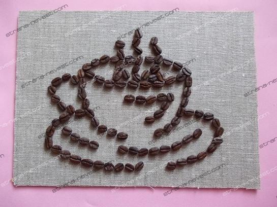 Чашка из кофейных зёрен