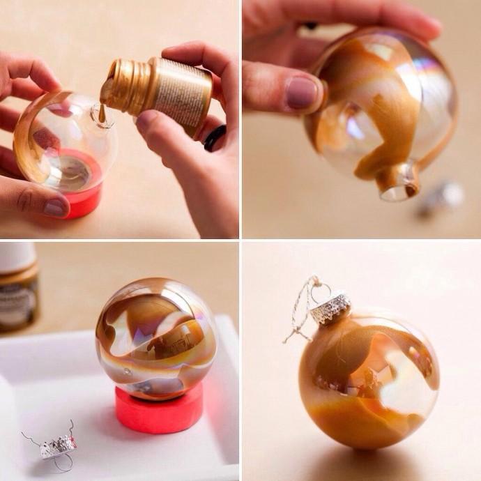 Идеи оформления ёлочных игрушек с детьми 2