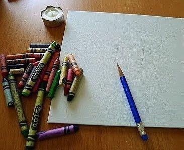 Нетрадиционные техники рисования: расплавленные восковые мелки