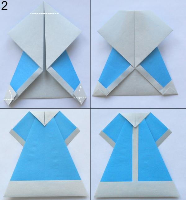 Снегурочка в технике оригами 2