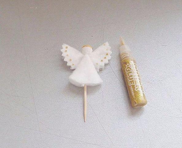 Ангелочки из ватных дисков 7