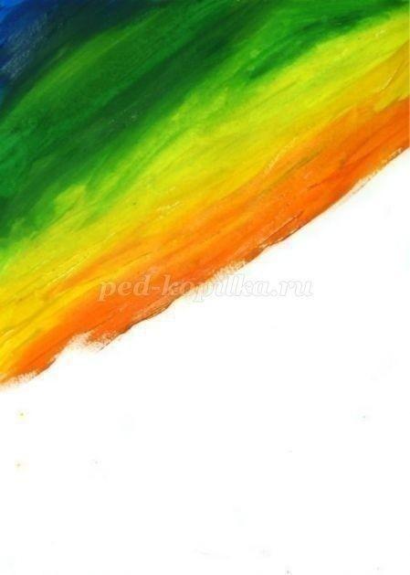 Рисуем одуванчики гуашью