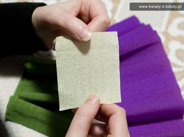Букетик крокусов из гофрированной бумаги 2