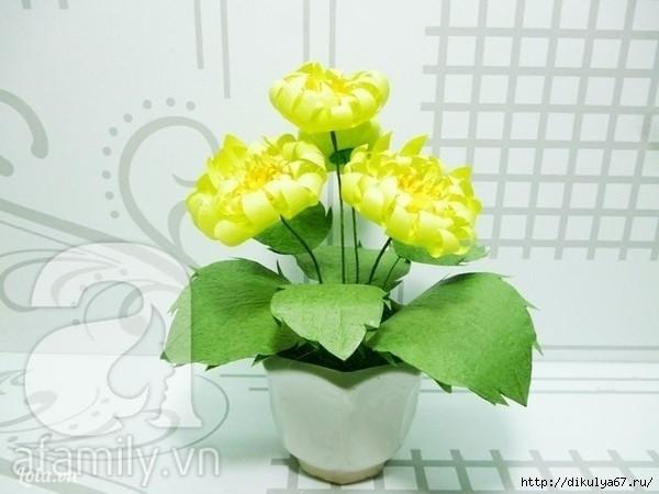 Цветок из бумаги