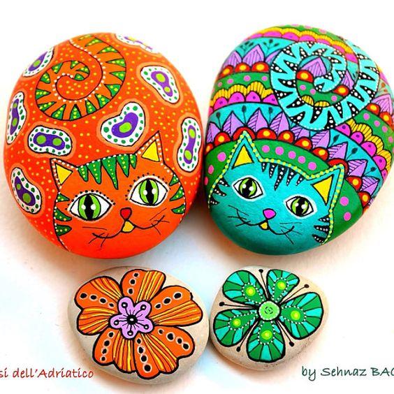 Идеи красочной росписи камней с детьми 1
