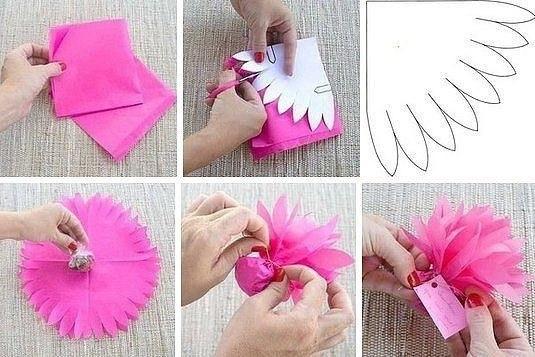 Красивая упаковка конфет, которую способны сделать малыши