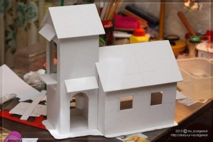 Мастерим картонный домик с детьми