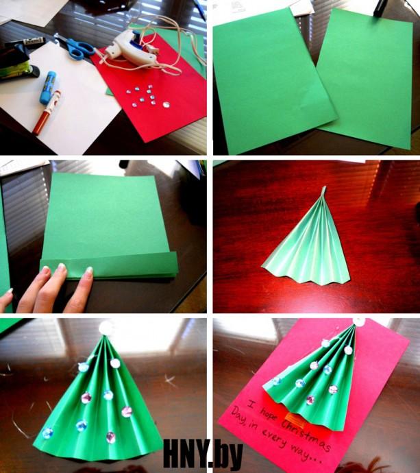 Очень простые объёмные открытки с детьми