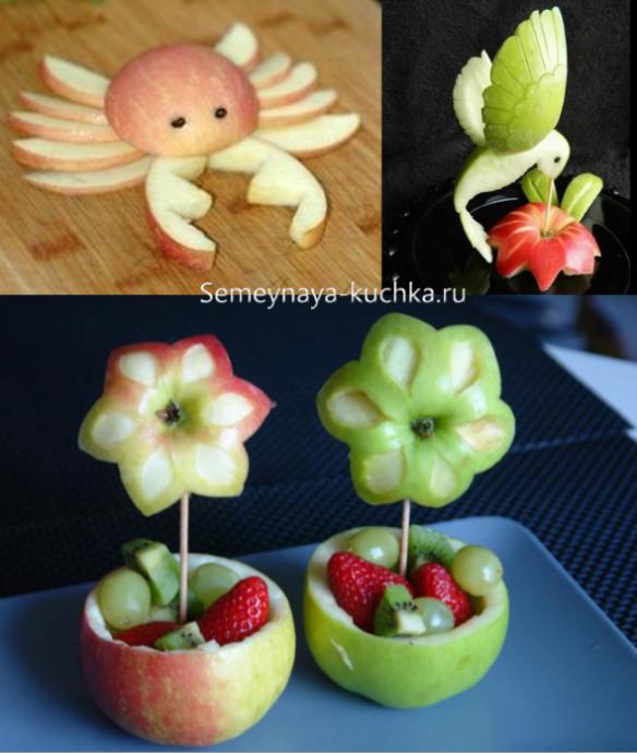Съедобные поделки из овощей и фруктов