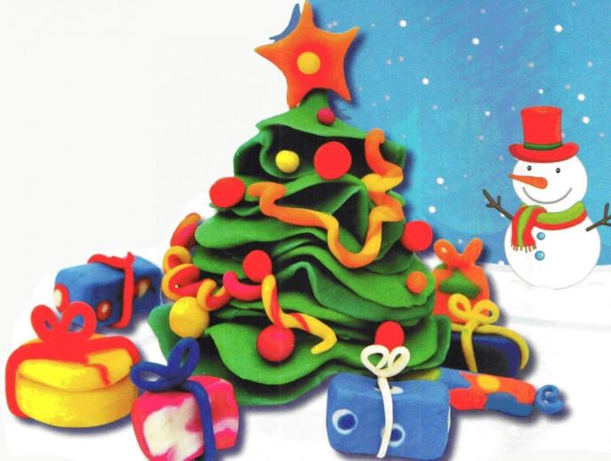 Чудесные новогодние поделки из пластилина 3