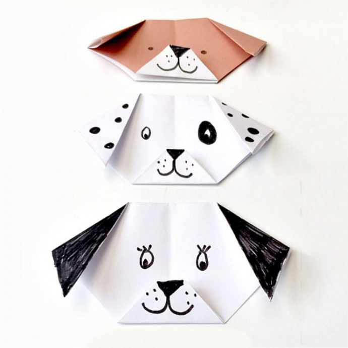 Собачка оригами 1