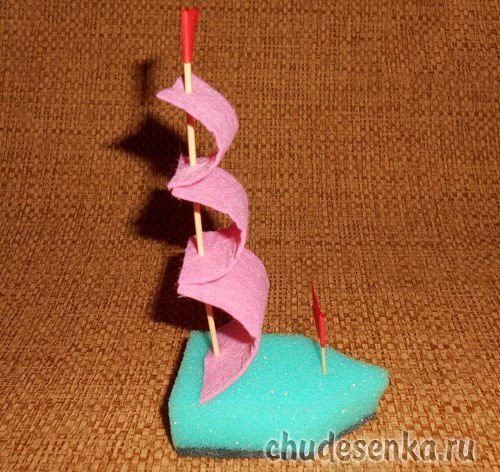 Кораблики из губок