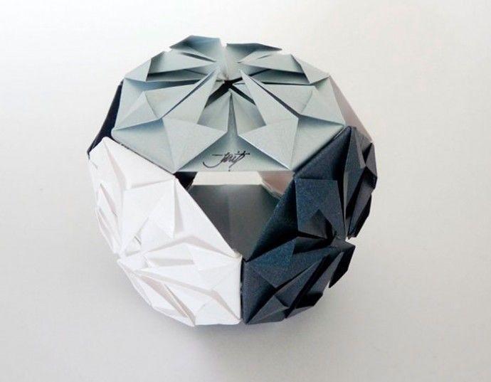 """Кусудама - """"лекарственный шар"""" в технике оригами"""