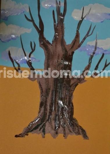 Рисуем дуб