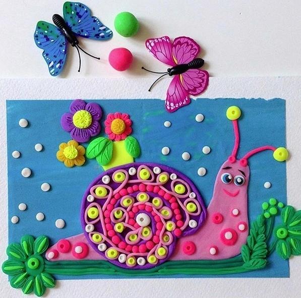 Творим картины из пластилина