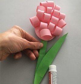 Объемные гиацинты из бумаги