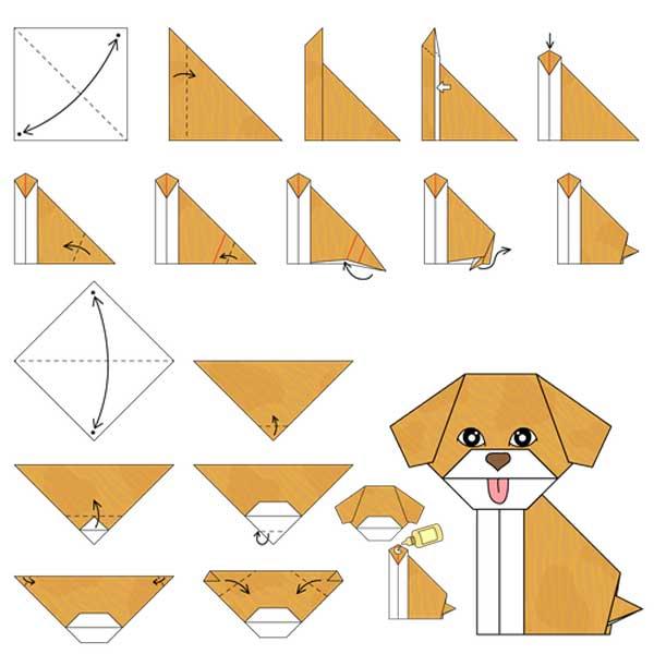 что открытки оригами животных лето