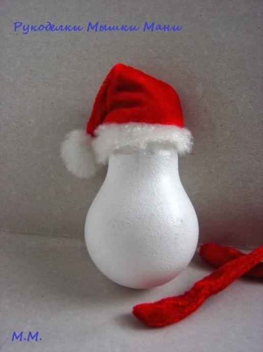 Снеговик из перегоревшей лампочки 2