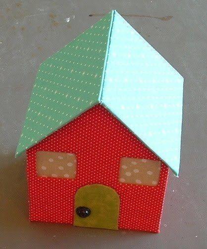 Как сделать домик из картона