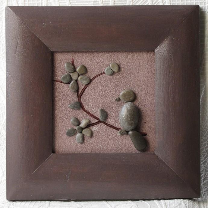 Оригинальные картины из камней для детского творчества