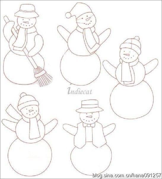 Снеговички из фетра