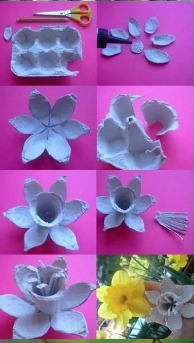 Совместное творчество с детьми из картонных лотков