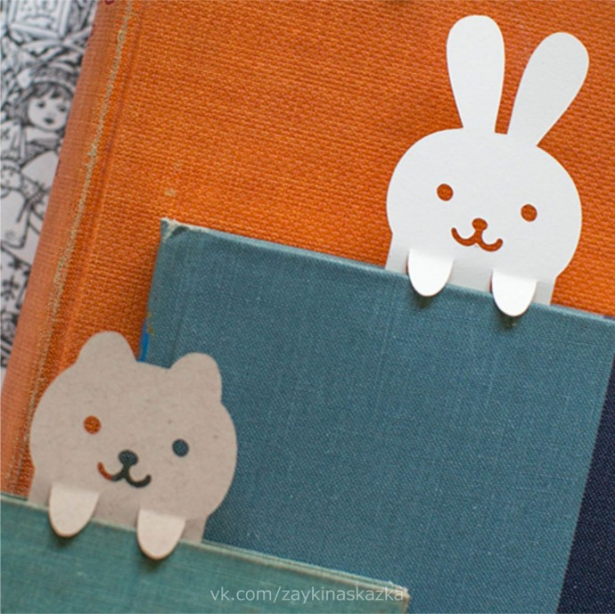 Закладки для книг в виде зверушек