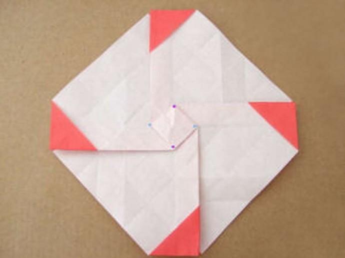 Делаем розу оригами 6
