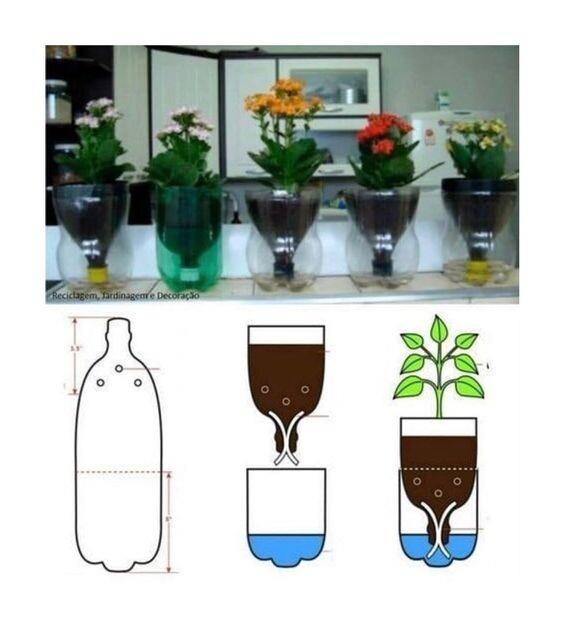 Цветочные идеи из пластиковой бутылки